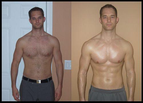 Testosteron kuur voor en na